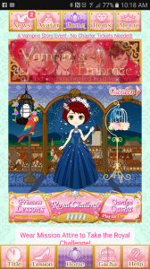 Midnight Cinderella home screen