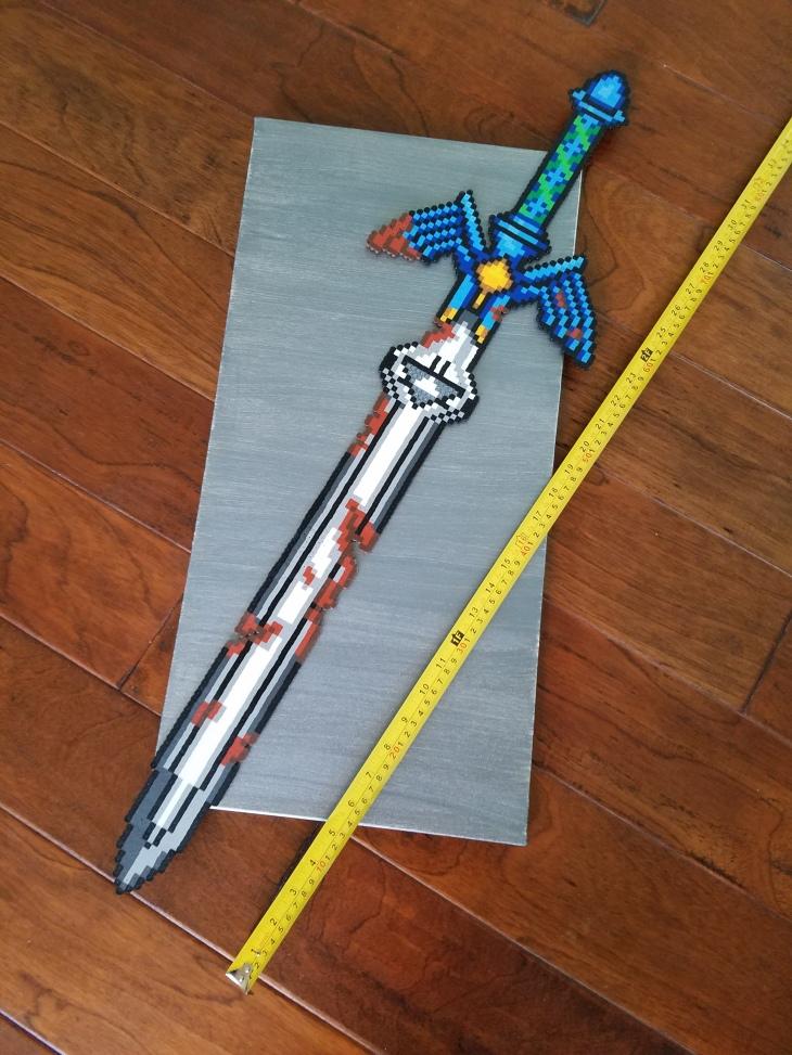 master sword perler size