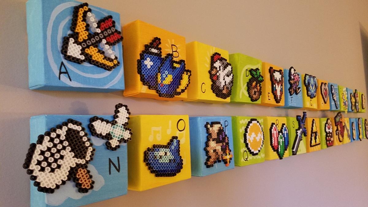 Zelda Alphabet Perler Wall Blocks Triple Xp Blog