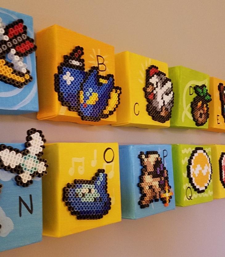 Zelda ABC blocks