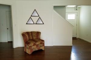 triangle triforce mirror