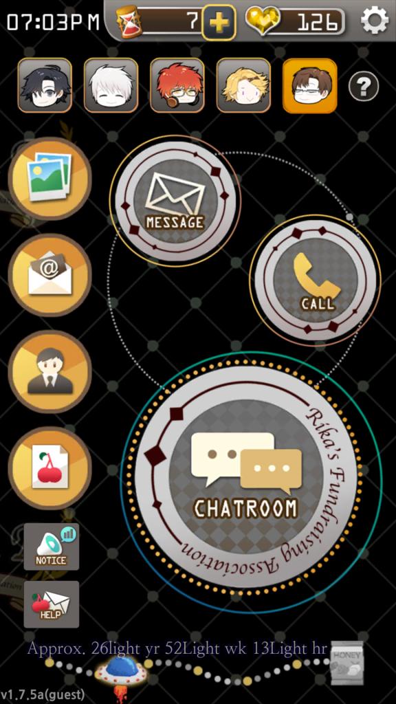 mystic messenger dashboard