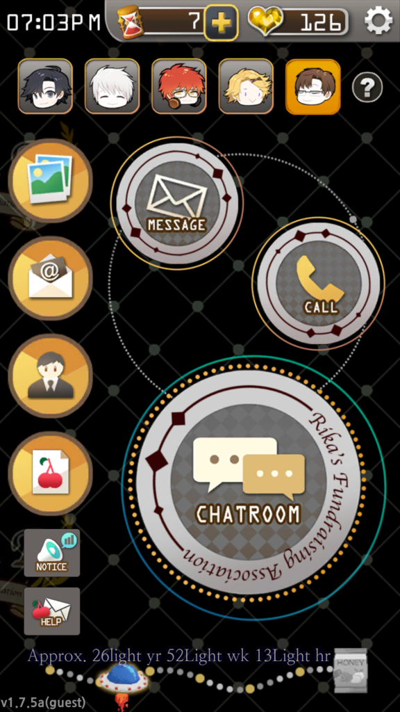 mystic messenger dashboard