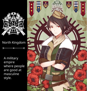 North Kingdom military empire with masculine style