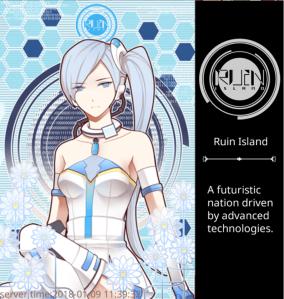 Ruin Island technology style