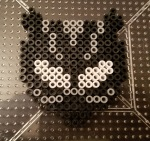 black panther perler design