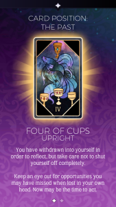 the arcana four of cups