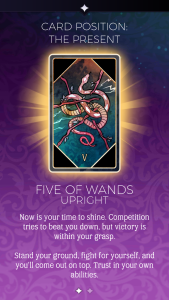 the arcana five of wands